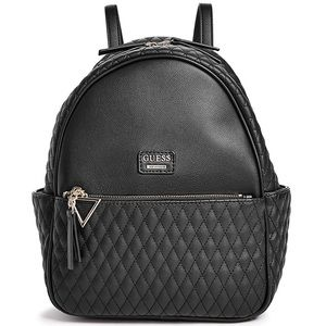 Guess Larson Quilted Black Mini Backpack
